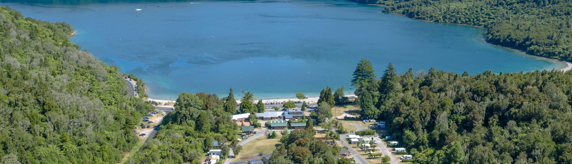 Rotorua New Zealand Map.Park Map Blue Lake Top 10 Holiday Park Rotorua